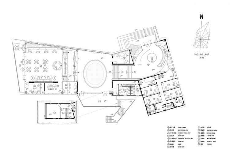 Langtin Yuanhu Experience Hall Plans